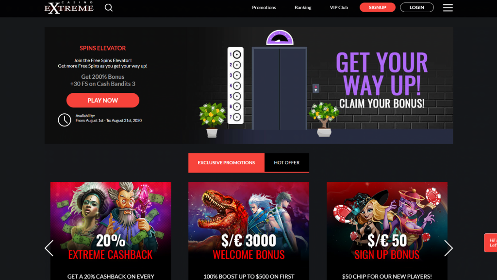 Casino Extreme No Deposit Bonus