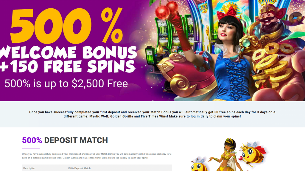 Duckyluck Casino Welcome Bonus