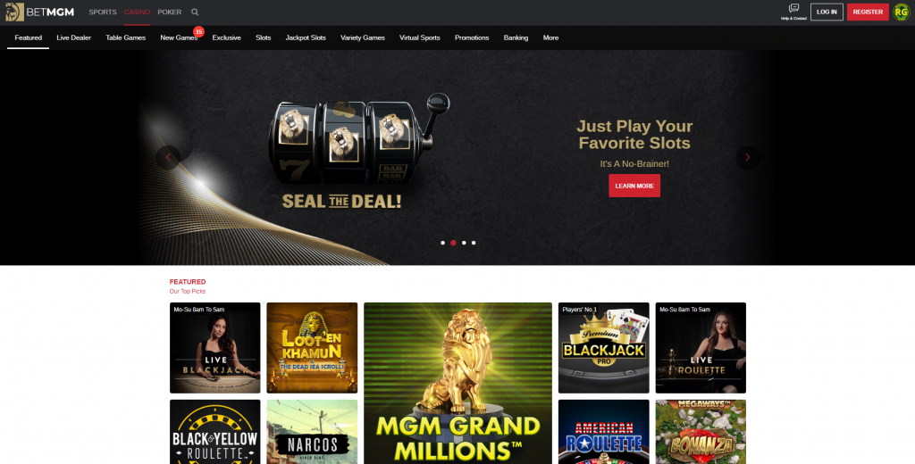 Mgm Online Casino Homepage