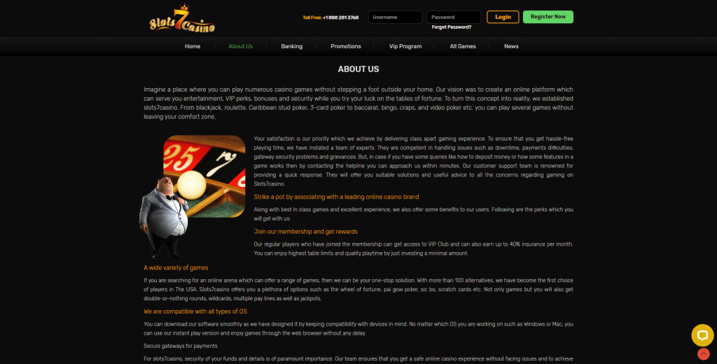 Slots 7 Casino No Deposit Bonus About Us