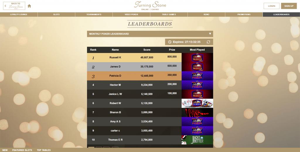 Turning Stone Online Casino Final